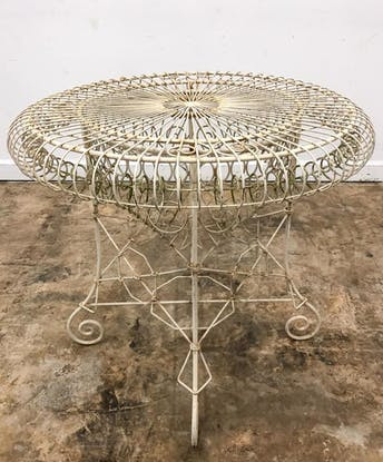 FRENCH, DISTRESSED WHITE IRON GARDEN TABLE_51814a_8d8a29d73247b40_lg.jpeg