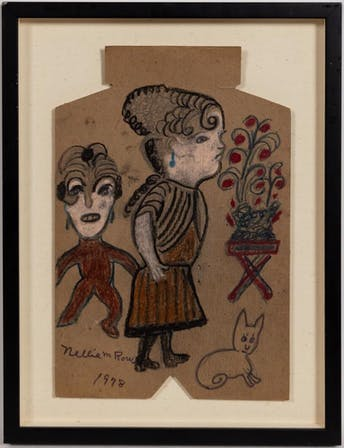 NELLIE MAE ROWE, TWO WOMEN & CAT, MIXED MEDIA_54370a_8d8a29981a53d9c_lg.jpeg