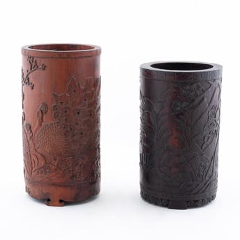 TWO CHINESE CARVED WOOD BRUSH POTS_64785a_8d8a82e247a82d0_lg.jpeg